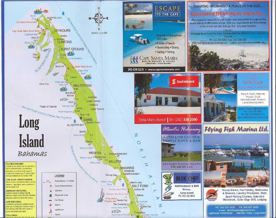 Bahamas Long Island tourist map – Tourist Map Of Nassau Bahamas